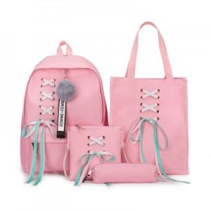 Рюкзак набор из 4 предметов арт.Р398,цвет: Розовый
