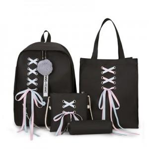 Рюкзак набор из 4 предметов арт.Р398,цвет: Черный