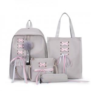 Рюкзак набор из 4 предметов арт.Р398,цвет: Серый