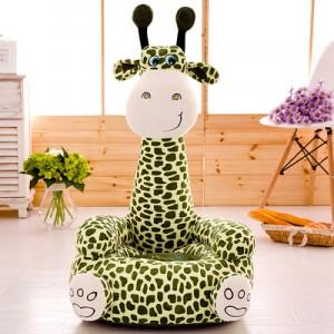 Кресло детское арт.ДМК02,цвет:Зеленый жираф №16
