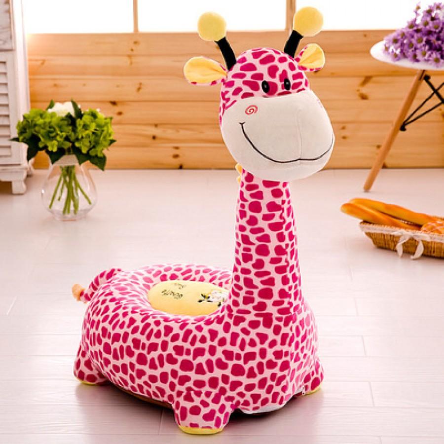Кресло детское арт.ДМК02,цвет:Розовый жираф №18