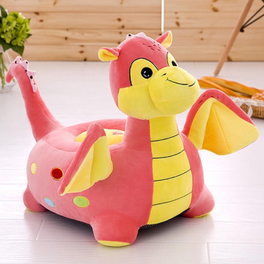 Кресло детское арт.ДМК02,цвет:Розовый дракоша №19