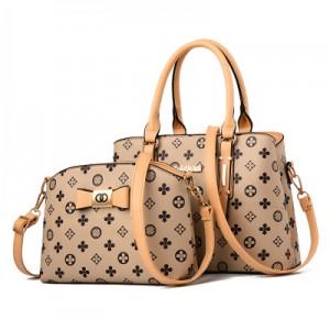 Набор сумок из 2 предметов арт.А593,цвет: Бежево-Рисовый цветок
