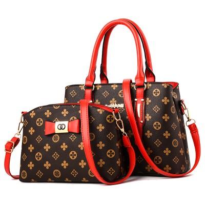 Набор сумок из 2 предметов арт.А593,цвет: Красно-Кофейный цветок