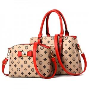 Набор сумок из 2 предметов арт.А593,цвет: Красный Рис цветок