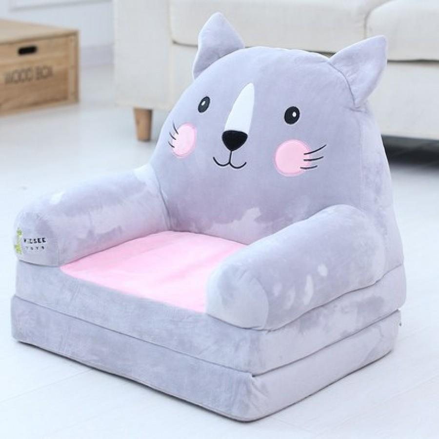 Кресло детское арт.ДМК03, цвет:Серый кот