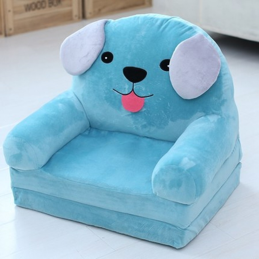 Кресло детское арт.ДМК03, цвет:Синий щенок