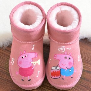 Сапоги детские арт.ДС68,цвет: Розовый барабан Джордж