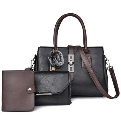 Набор сумок из 3 предметов арт.А594,цвет: Черный