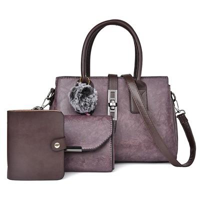 Набор сумок из 3 предметов арт.А594,цвет: Фиолетовый