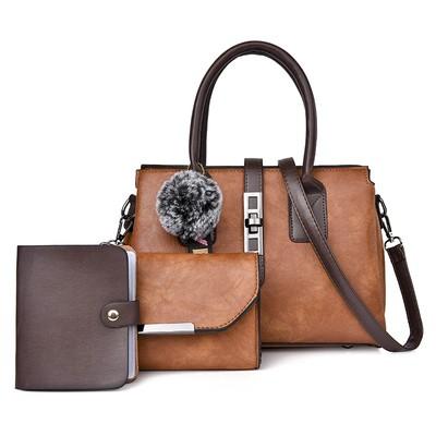 Набор сумок из 3 предметов арт.А594,цвет: Коричневый