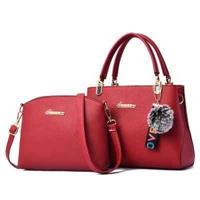 Набор сумок из 2 предметов арт.А596,цвет: Красное вино