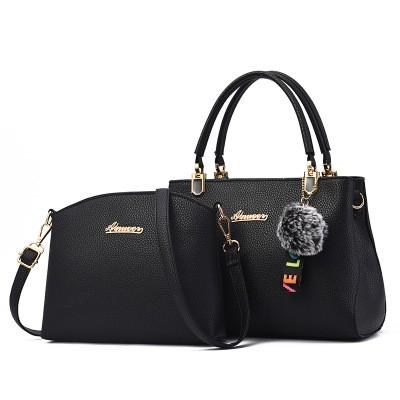 Набор сумок из 2 предметов арт.А596,цвет: Черный