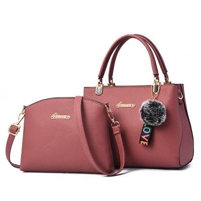 Набор сумок из 2 предметов арт.А596,цвет: Темно-Розовый
