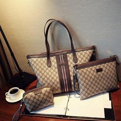 Набор сумок из 3 предметов арт.А600,цвет: Коричневый