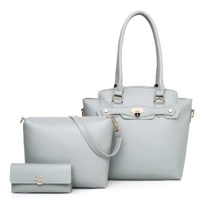 Набор сумок из 3 предметов арт.А601,цвет: Светло-Серый