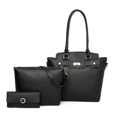 Набор сумок из 3 предметов арт.А601,цвет: Черный