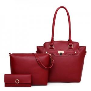 Набор сумок из 3 предметов арт.А601,цвет: Красный