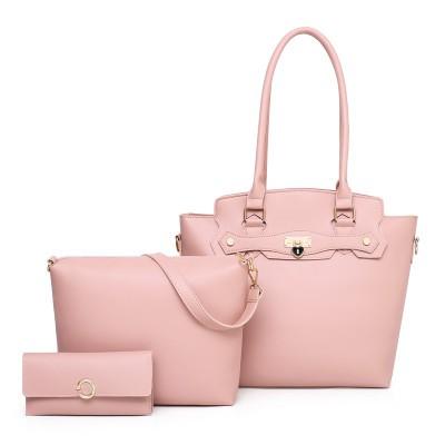Набор сумок из 3 предметов арт.А601,цвет: Розовый