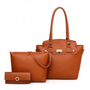 Набор сумок из 3 предметов арт.А601,цвет: Светло-Коричневый