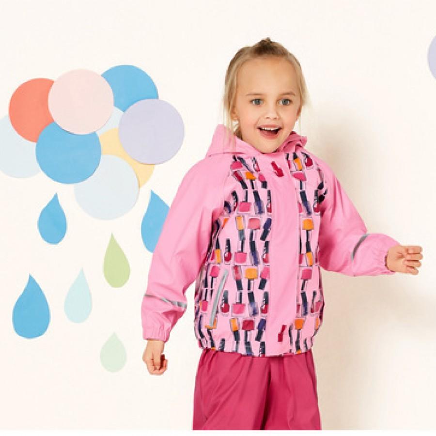Водоотталкивающая куртка арт.НК8,цвет: Светло-розовый печать