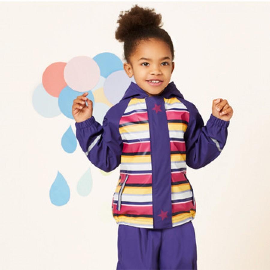 Водоотталкивающая куртка арт.НК8,цвет: Темно-фиолетовая полоса