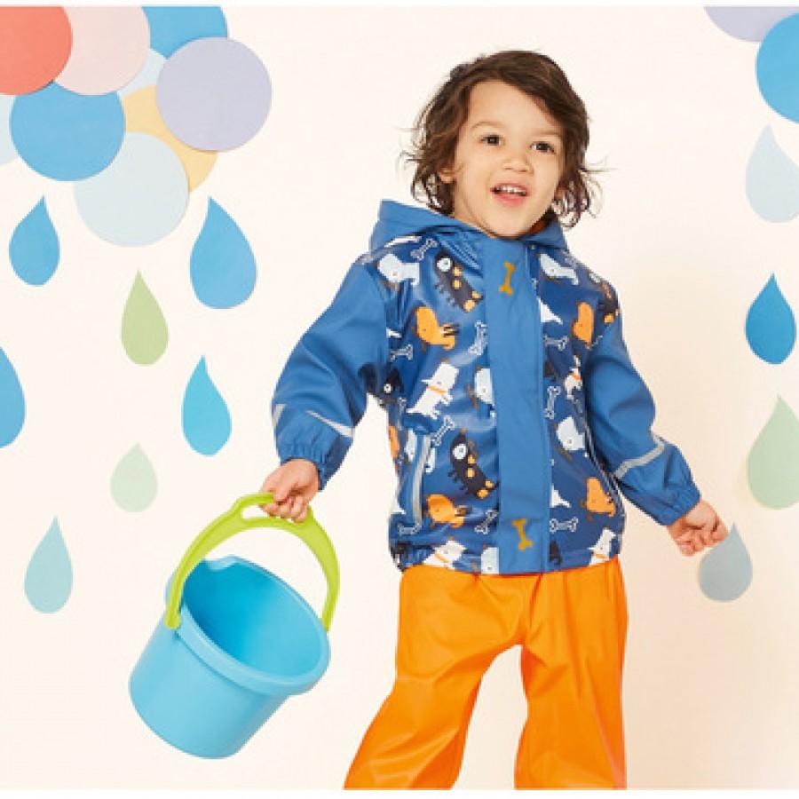 Водоотталкивающая куртка арт.НК8,цвет:Синий Голубой мультяшный