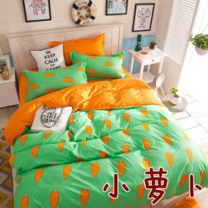 Постельный комплект арт.ПБ8,цвет: Морковка
