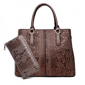 Набор сумок из 2 предметов арт.А602,цвет: Коричневый