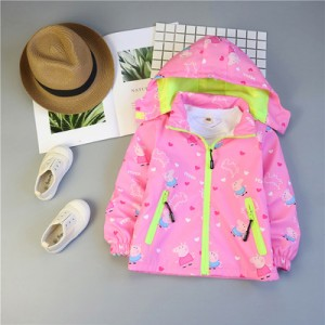 Детская куртка арт.КД075,цвет: Розовый, свинка Пеппа