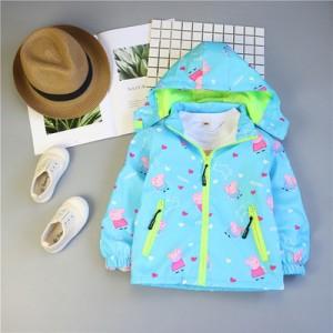 Детская куртка арт.КД075,цвет: Синий, свинка Пеппа