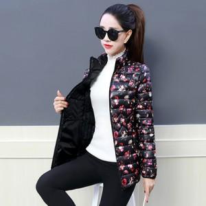 Куртка женская до размера 6XL арт.КЖ176,цвет: Цветочный