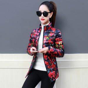 Куртка женская до размера 6XL арт.КЖ176,цвет: Бабочка цветок