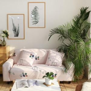 Чехол арт МЧ9 цвет: Нежно-розовые с кактусами