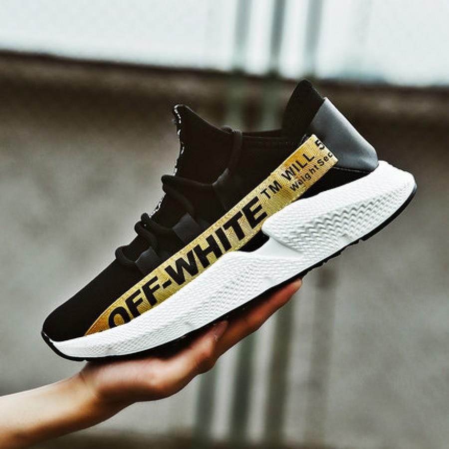 Мужские кроссовки арт.ОМ63,цвет: Черный+желтый