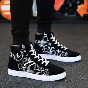 Мужские кроссовки арт.ОМ68,цвет: Черно-белый