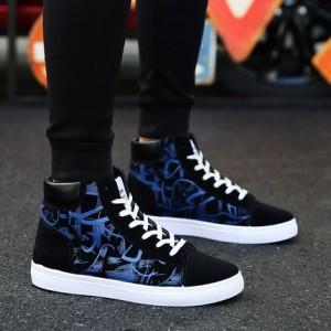 Мужские кроссовки арт.ОМ68,цвет: Черный синий