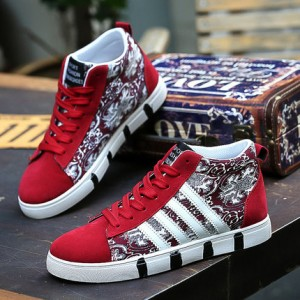 Мужские кроссовки арт.ОМ70,цвет: 966 Красный