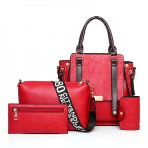 Набор сумок из 4 предметов арт.А604,цвет: Красный