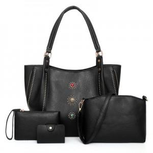 Набор сумок из 4 предметов арт.А605,цвет: Черный