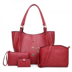 Набор сумок из 4 предметов арт.А605,цвет: Красный