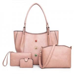 Набор сумок из 4 предметов арт.А605,цвет: Розовый