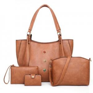 Набор сумок из 4 предметов арт.А605,цвет: Светло-Коричневый