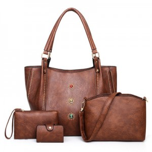 Набор сумок из 4 предметов арт.А605,цвет: Темно-Коричневый