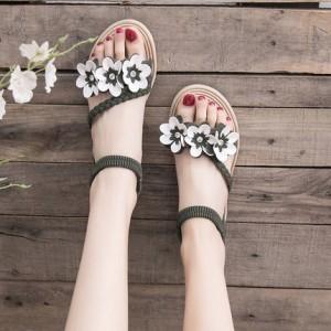 Женские сандалии арт.ОЖ405,цвет: Зеленый