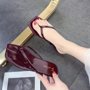 Женские шлепки арт.ОЖ406,цвет: Красное вино