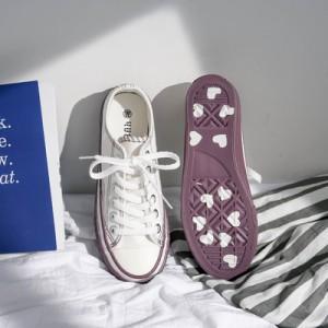 Женские кеды арт.ОЖ411,цвет: Белый+фиолетовый