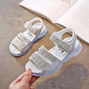 Детские сандалии арт.ДС123,цвет: Серебро