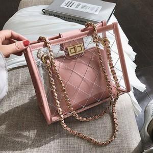 Набор сумок из 2 предметов арт.А608,цвет: Розовый