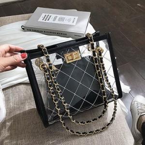 Набор сумок из 2 предметов арт.А608,цвет: Черный